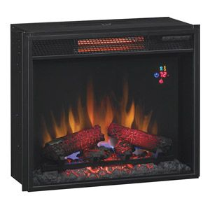 The Classicflame 23 In Fixed Glass Spectrafire Infrared Quartz Electric Fireplace Insert