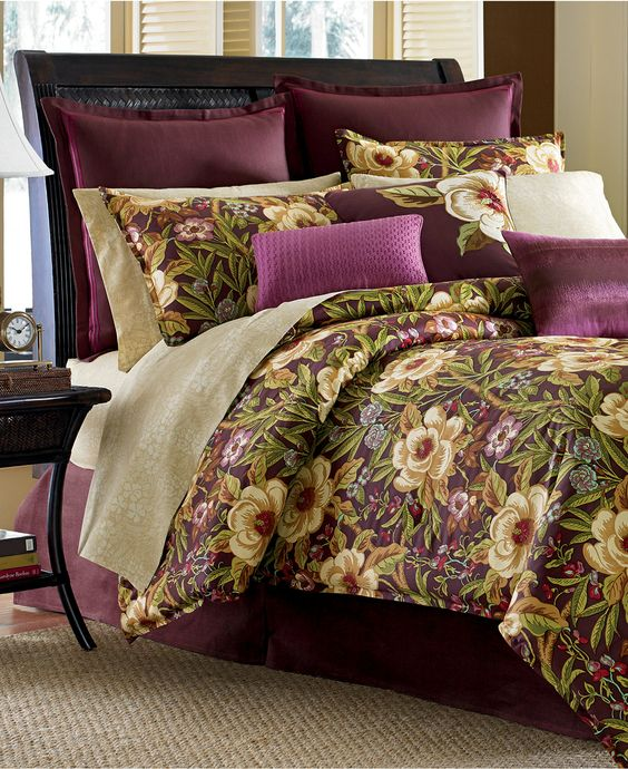 Delightful Tommy Bahama Furniture Closeouts #9: CLOSEOUT! Tommy Bahama Home Havana Garden Comforter Sets - Bedding Collections - Bed U0026amp; Bath