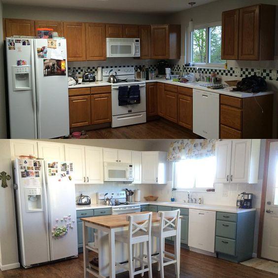 Kitchen renovation - General Finishes Milk Paint (antique white ...