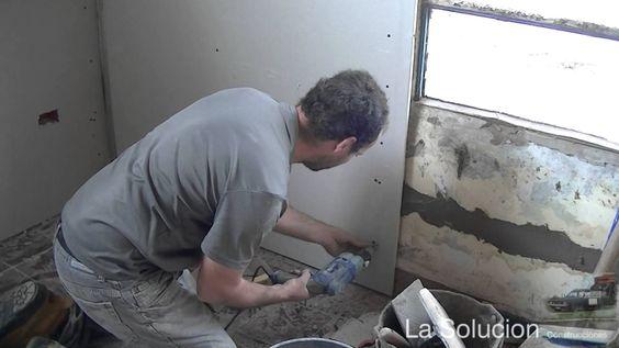 Yeso sobre paredes con humedad