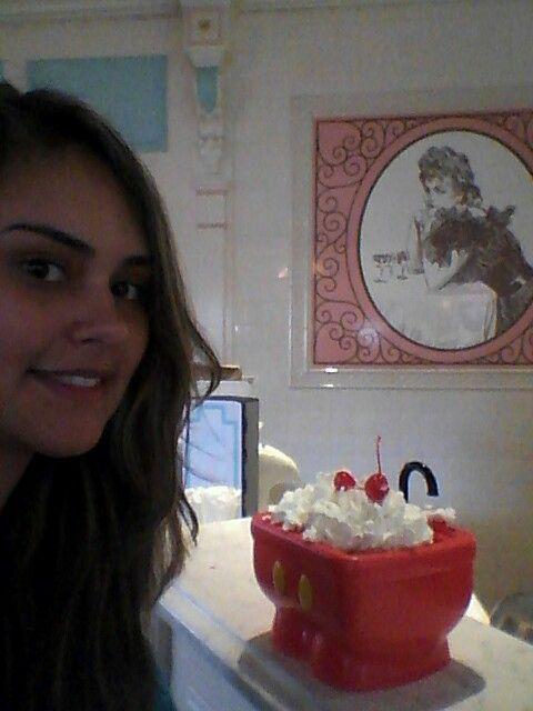 Pia de sorvete Mickey
