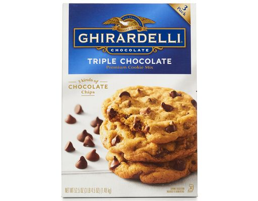 Ghirardelli Triple Chocolate Premium Cookie Mix Triple Chocolate Cookies Cookie Mix Triple Chocolate