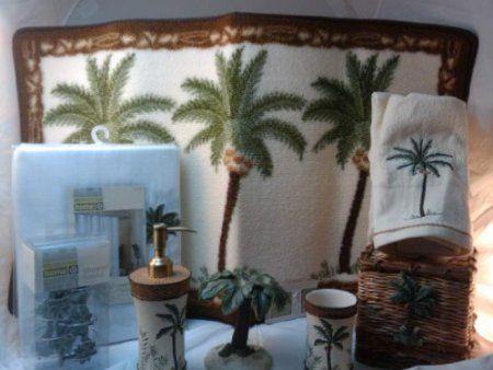 Palm tree bath rug from target home home for Palm tree bathroom ideas