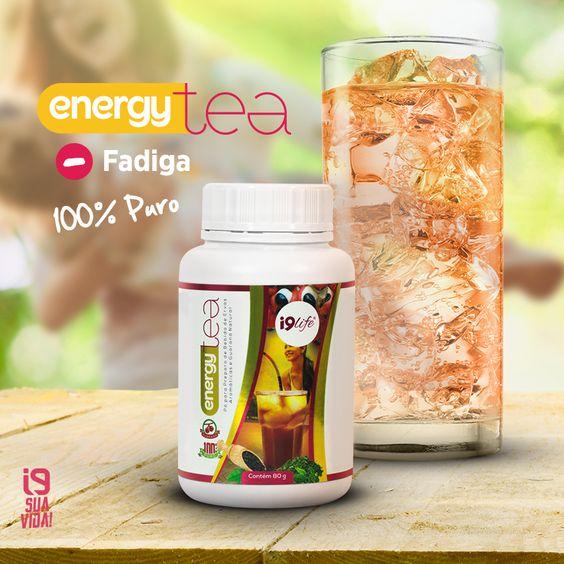 O Energy Tea é um produto à base de guaraná, planta conhecida como ótima fonte de cafeína. Possui efeito ergogênico = Aumenta a capacidade para o trabalho corporal e mental, especialmente pela eliminação dos sintomas de fadiga, visando à melhora da performance.  Acesse: www.perfumesi9.com.br