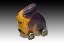 "Fat Bunny by Dona Dalton (Wood Sculpture) (5"" x 4"")"