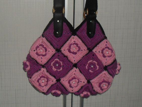 Bolsa de Crochê Flower | Fabiane Mena | Elo7