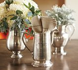 Love the antique silver from Pottery Barn