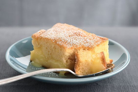 Gently falling snow, good. Unrelenting icy rain, not so much. Tame winter with a forkful of lemony sunshine in a warm, moist pudding cake with a citrus tang.