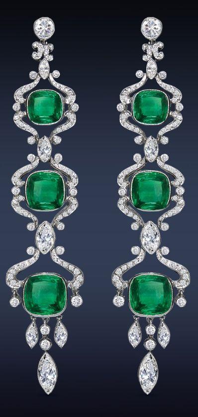 Emerald Drop Earrings by Jacob & Co.