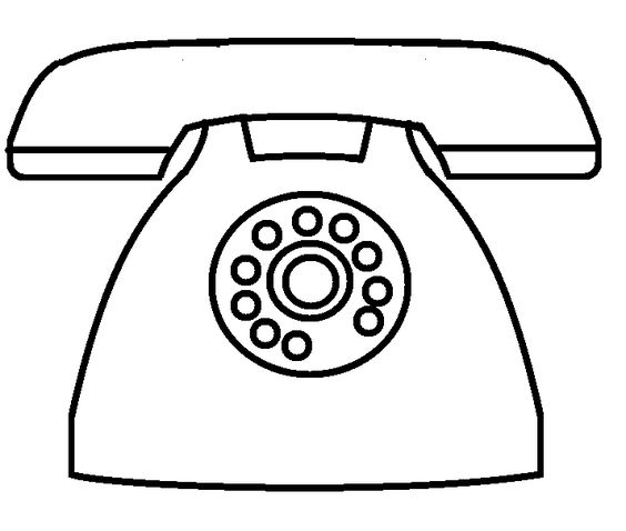 telephone coloring pages - photo#5