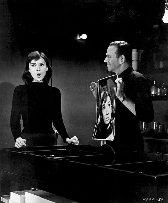 """Audrey Hepburn and Fred Astaire in """"Funny Face"""""""