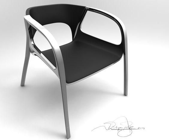 Concept chair - design and 3D modeling by Philippe Poyte.