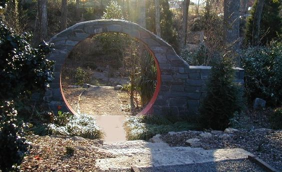 "a ""moon gate"" at BelleWood-Gardens"