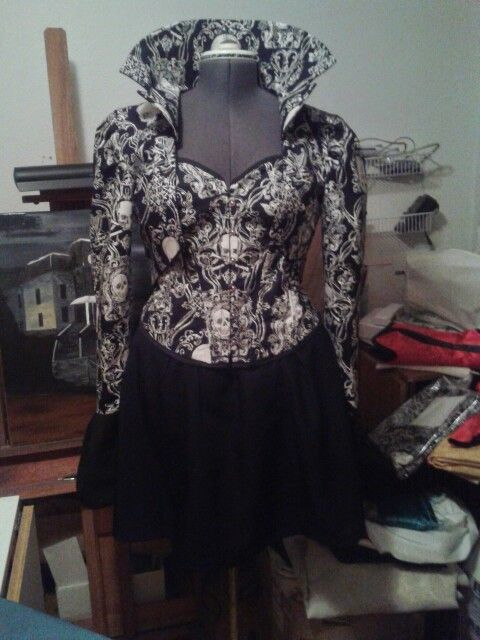Skull Corset with Jacket - this is my own work.
