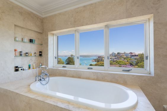 Watch over the city right from the tub!