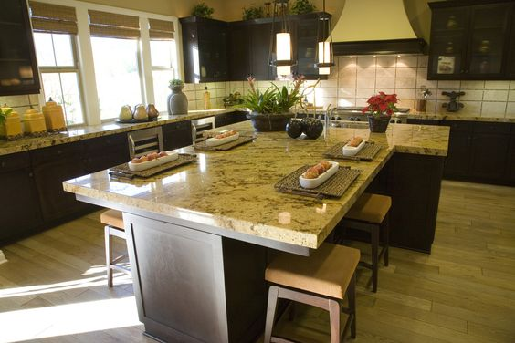 Dark Wood Kitchens Long Kitchen And Custom Kitchens On Pinterest