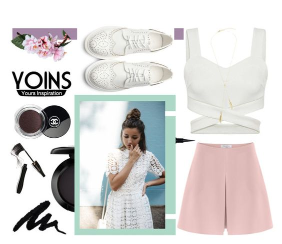 """YOINS"" by alina-gritsay ❤ liked on Polyvore featuring MAC Cosmetics, Givenchy, Valentino, Chanel, Lancôme, yoins and loveyoins"