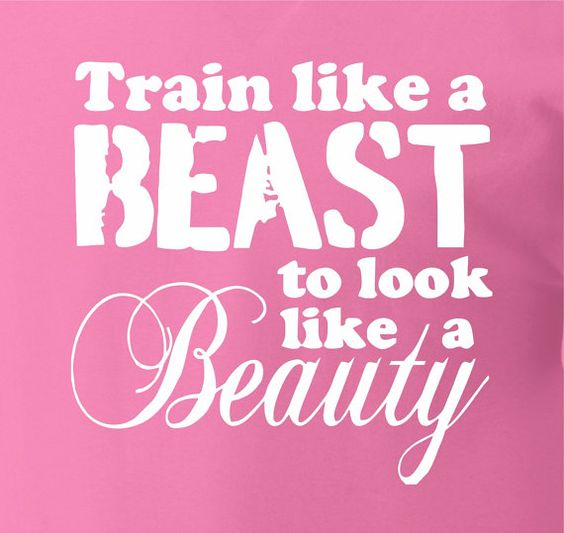 Workout Shirt. Train like a beast to look like a beauty. Great way to motivate yourself or someone you know. on Etsy, $15.95