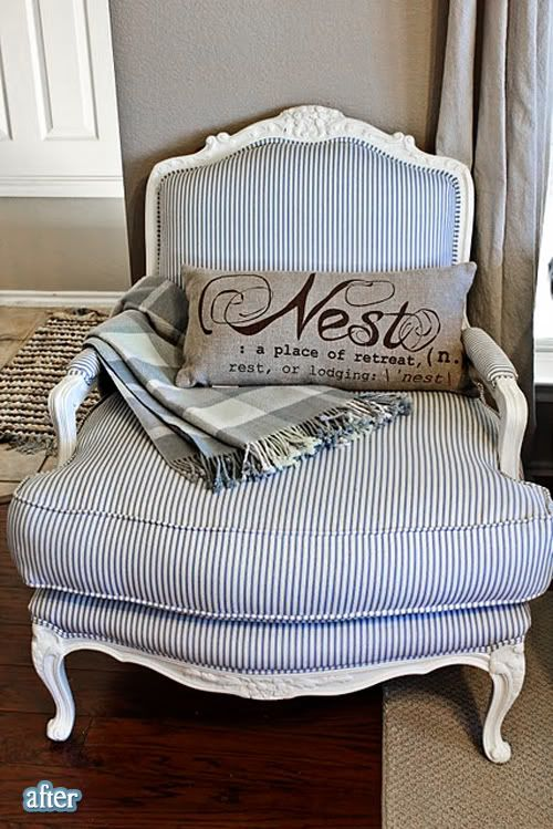 I'm obsessed with big comfy chair & that pillow ;) Furniture Pinterest Ottomans, Chair ...