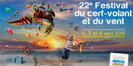 The festival season kicks off in the Charente-Maritime on the golden sands of Chatelaillon Plage with the 22nd edition of the Festival de Cerf Volant or Kite Festival!