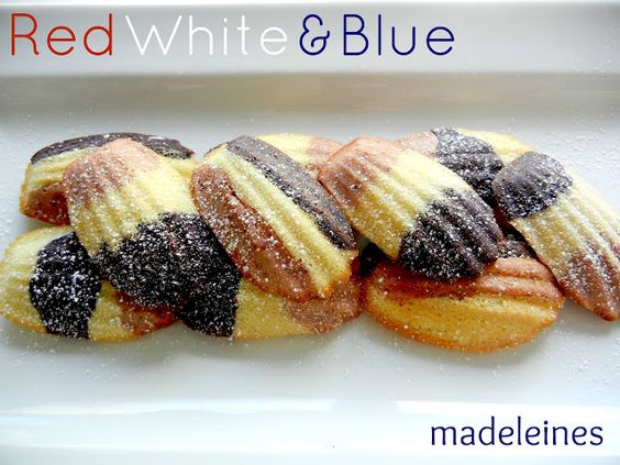 Sugar Swings! Serve Some: red, white, & blue madeleines......!