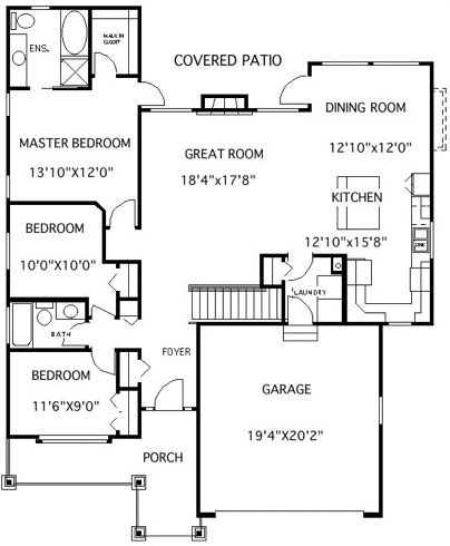 Plan No.504351 House Plans by WestHomePlanners.com