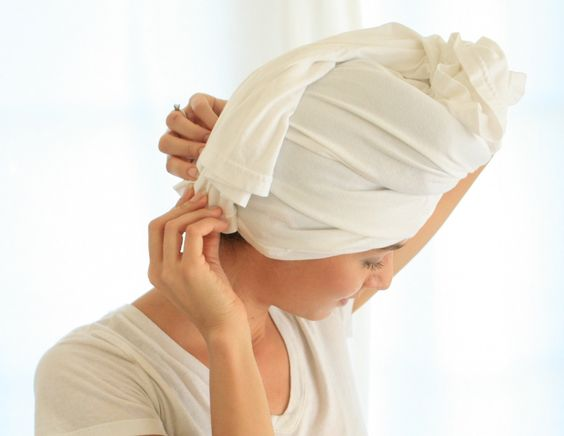 I've got news for you, it's time to ditch the traditional way of drying  your hair. Most of us use a standard towel to dry our hair after showering,  but this ordinary method can lead to over-drying your hair and leave you  with crazy and unmanageable frizz.  It also takes away a lot of the  moisture you give to your hair during your showers. No thanks!! The  solution to this is simple. Just use a plain cotton t-shirt!  This trick works for all hair types but is especially great for a...