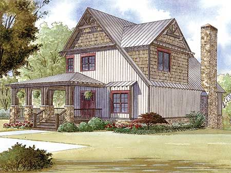 Rustic House Plans Elevation Plan And Sleeping Loft On