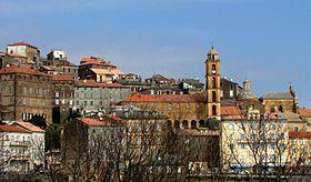 Vue de la vieille ville de Cervione.