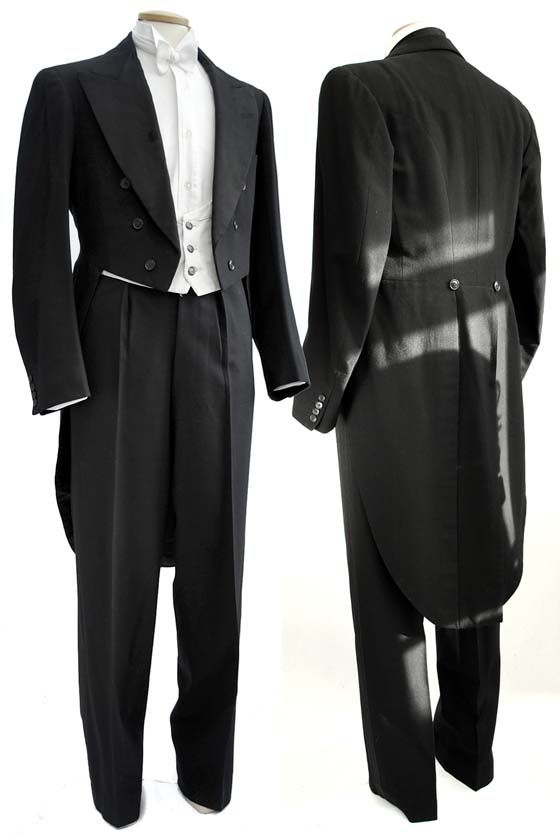 1930s Evening White Tie and Tails Suit by Radford  Jones. Via http://www.vampalicious.co.uk/shop/