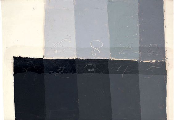 Albers color study of greys: