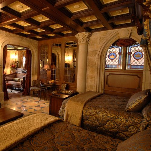Cinderella's castle suite, at Magic Kingdom. The Princess Hotel will be even more magical than this because it will be authentic and no tourists