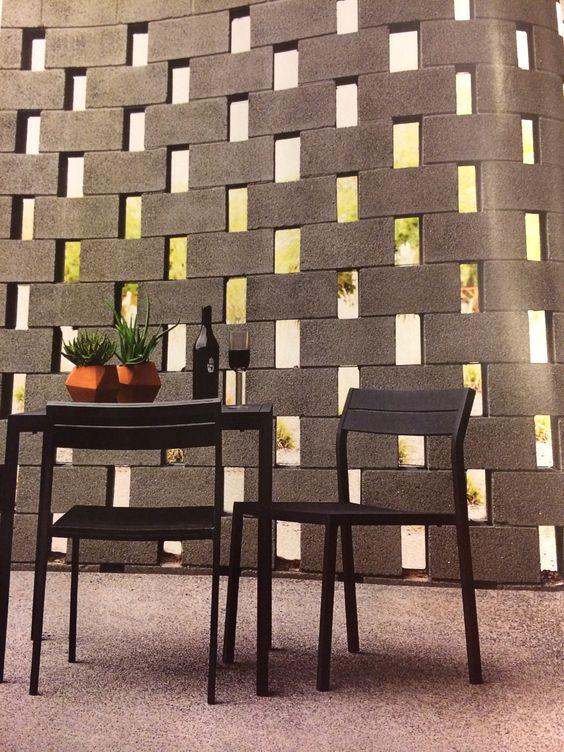 Paredes de bloques de cemento bloques de cemento and - Muro de bloques ...
