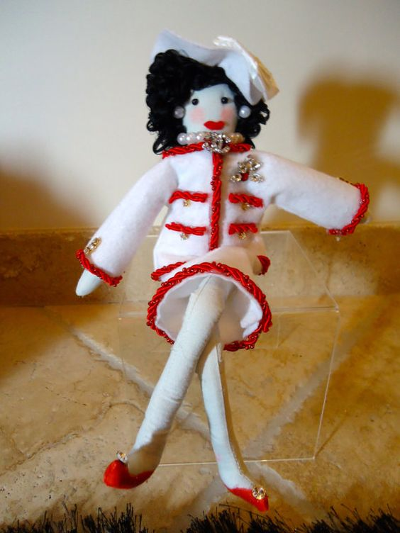 Coco Chanel collectible 14 bendable doll fashion by cookiechanel, $45.00