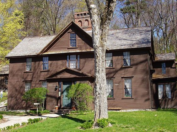 Orchard House in Concord. Home of Louisa May Alcott and setting of Little Women. #littlewomen