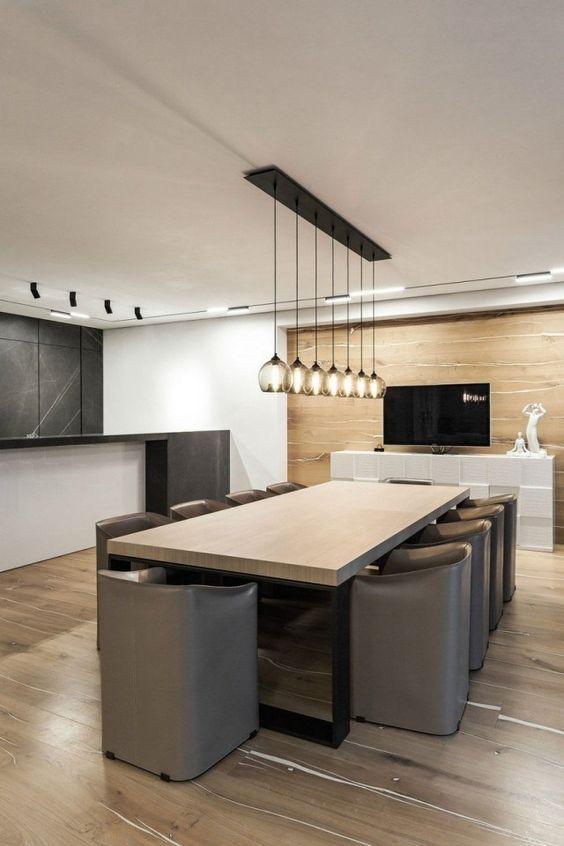Id es luminaire moderne dans toutes les pi ces du domicile for Salle a manger design en bois
