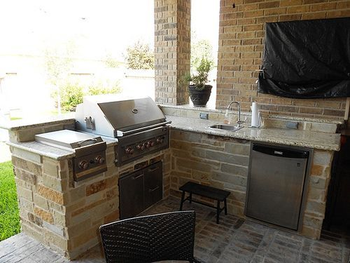 Small Corner Outdoor Grill Small Outdoor Kitchens Outdoor Kitchen Design Patio Kitchen