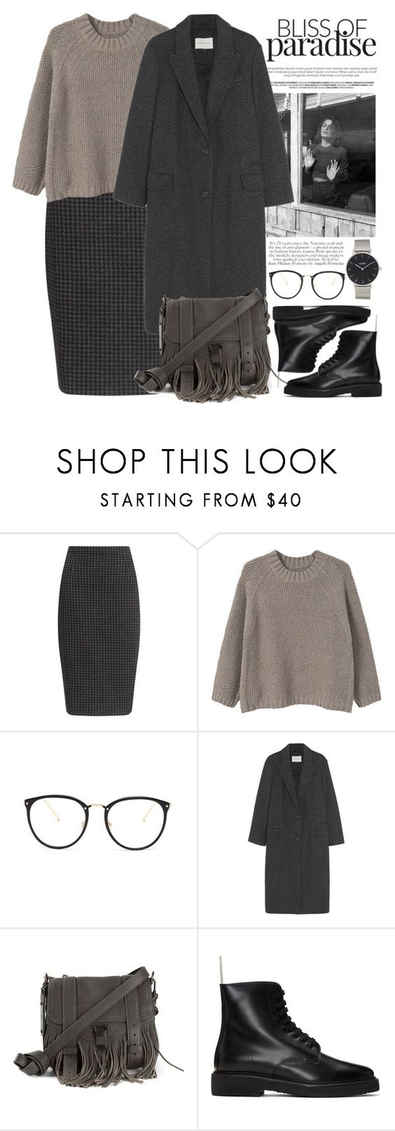"""""""Без названия #2677"""" by catelinota-a ❤ liked on Polyvore featuring John Lewis, MANGO, Linda Farrow, Étoile Isabel Marant, Proenza Schouler, Common Projects and CLUSE"""