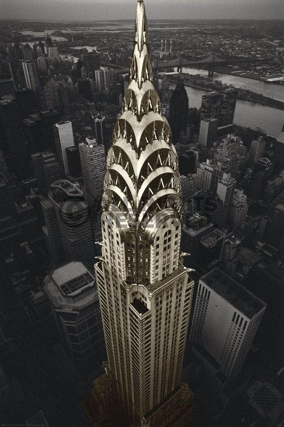 Poster: Chrysler Building - NYC zum Verkauf online. Bestellen Sie Ihre Poster, Ihre 3D Film-Poster oder ähnliches interessantes Deco Panel 60x90