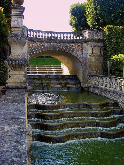 The Water Garden at the Chateau of Villandry, France.: Water Feature, Bucket List, Gardens Villandry, Beautiful Places, Water Garden