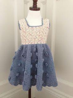 Annoo's Crochet World: Field Of Flower Summer Toddler Dress Free Pattern