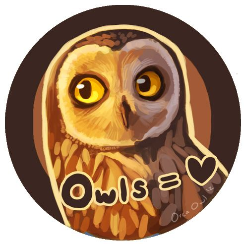 Owl Love Button by OrcaOwl.deviantart.com on @deviantART
