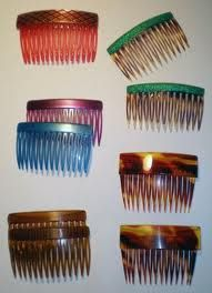 Hair Combs - Just another reminder of my child hood, right there, in my Grandmother's hair ...