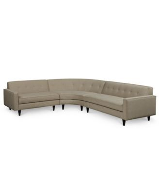 Shayla 3-Piece Shaped Curved Sectional with 2 Loveseats | Gorgeous Great  Rooms | Pinterest | Loveseats