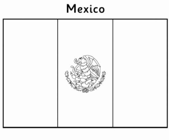 Mexico Flag Coloring Sheet Unique Mexican Flag Coloring Pages Picture 4 In 2020 Flag Coloring Pages Mexican Flags Mexico Flag