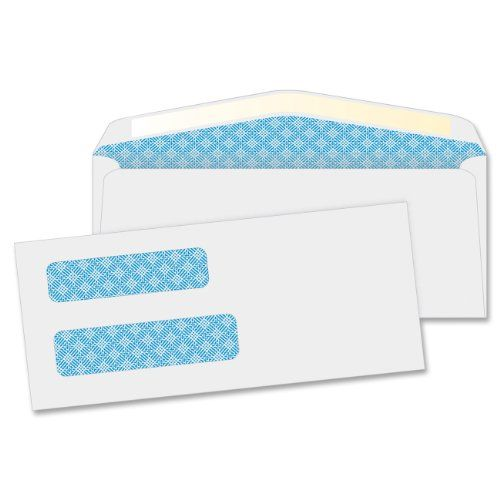 500 Gummed Double Window Security Check Envelopes Designed for QuickBooks Checks
