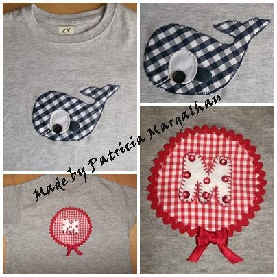 Whale and monogram T-shirts
