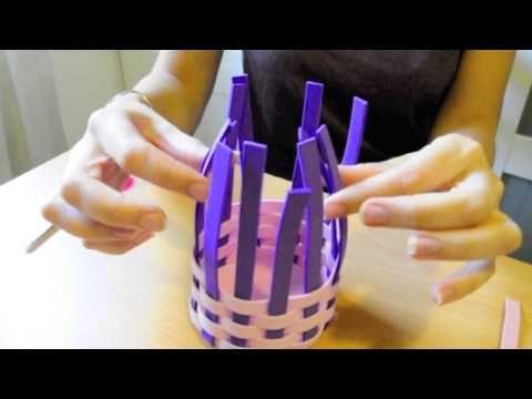 Manualidades del d a de la madre c mo hacer una cesta con - Como se hace manualidades ...