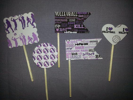 Volleyball Light & Dark Purple w/Black Party by EmeraldGreenWaters, $6.50