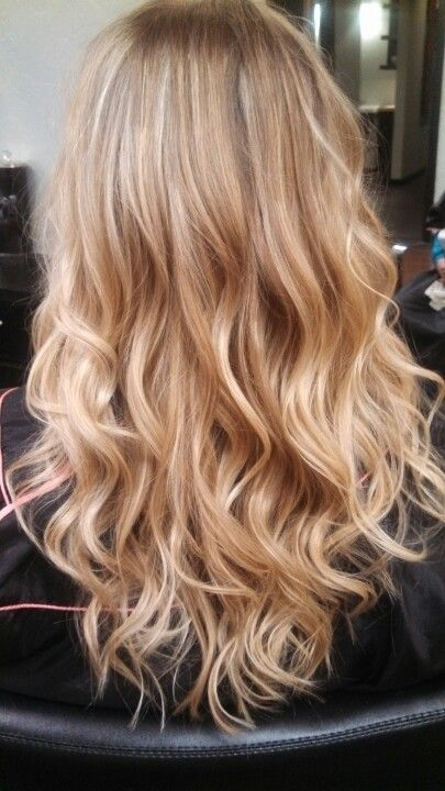 Lussuria Salon/ Eugene Oregon. Blonde Ombre love the warmer tones in this pic. No harsh ashy colouring!